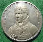 Napoleonic Wars, English Army enters Hanover 1814, white metal medal
