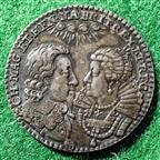 Charles I and Henrietta Maria, marriage 1625, silver medal