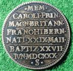 Prince Charles (Charles II), Birth and Baptism 1630, silver medal