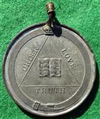 Ireland, Protestant Confederation 1835, white metal medal