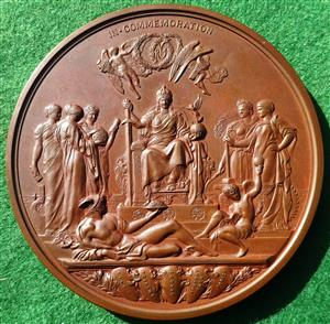 Victoria, Golden Jubilee 1887, large official bronze medal by J E Boehm & L C Wyon